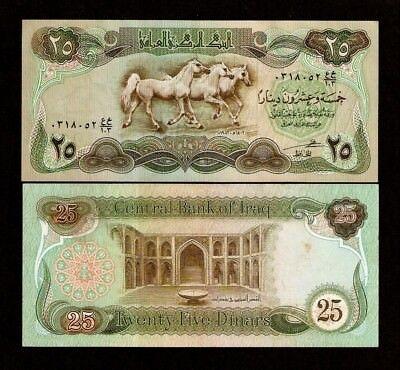 IRAQ 25 DINAR 1982 P-72 HORSES LOT x 10 UNC NOTES *//*