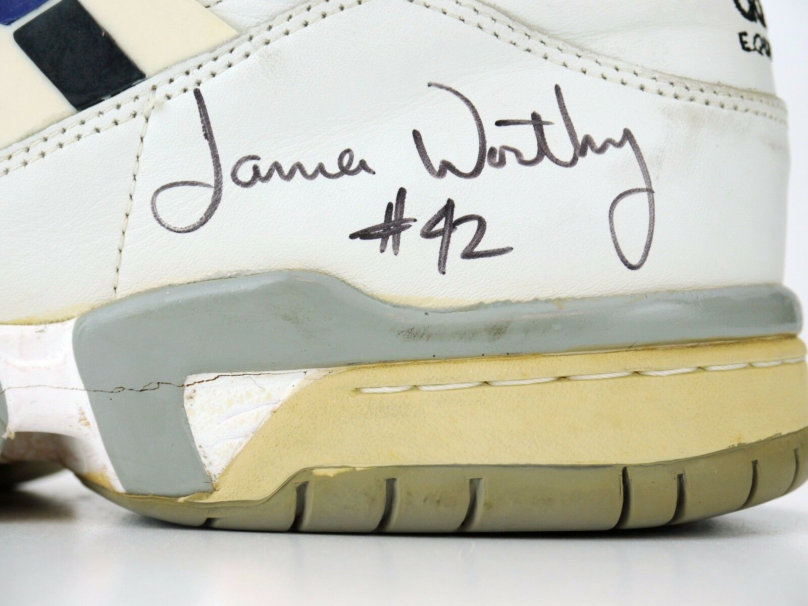 Vintage Adidas Equipment Equipment Equipment James Worthy PE Signed Left shoes Only size 15 381ec6