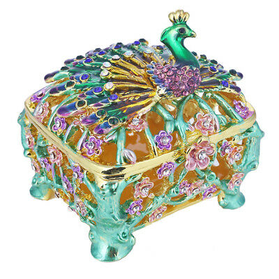 Crystal Metal Baby carriage Trinket Boxes Figurines Jewelry Wedding Lady Gift