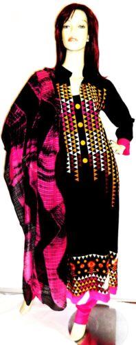 Eid Shalwar Churidar indiano 10 Designer Pakistani Black Suit Uk Kameez Hijab EWpWqR4