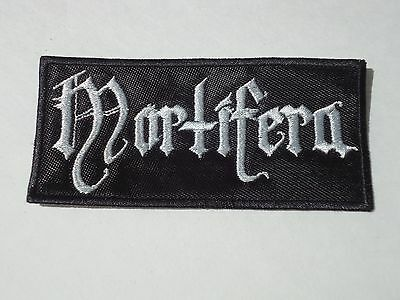 MORTIFERA BLACK METAL EMBROIDERED PATCH