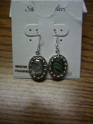 Abalone//Paua Shell Antique Finish 925 Sterling Silver Filigree Stud Earrings