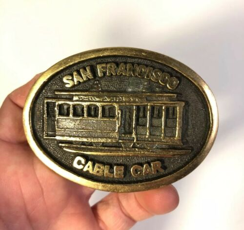 Vintage 70s San Francisco Cable Car Belt Buckle
