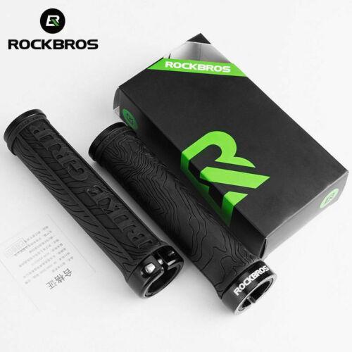 ROCKBROS Cycling Bike Bicycle TPR Rubber Handlebar Grips Lock Anti-slip Grips