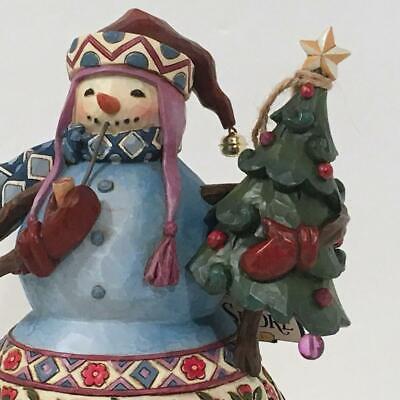 Figurine Jim Shore Christmas Tree and Snowman 2 piece set NEW