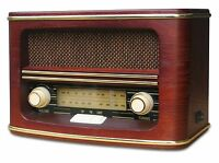 NEU Retro Radio mit Holz Gehäuse FM/LW Nostalgieradio Küchenradio Retroradio