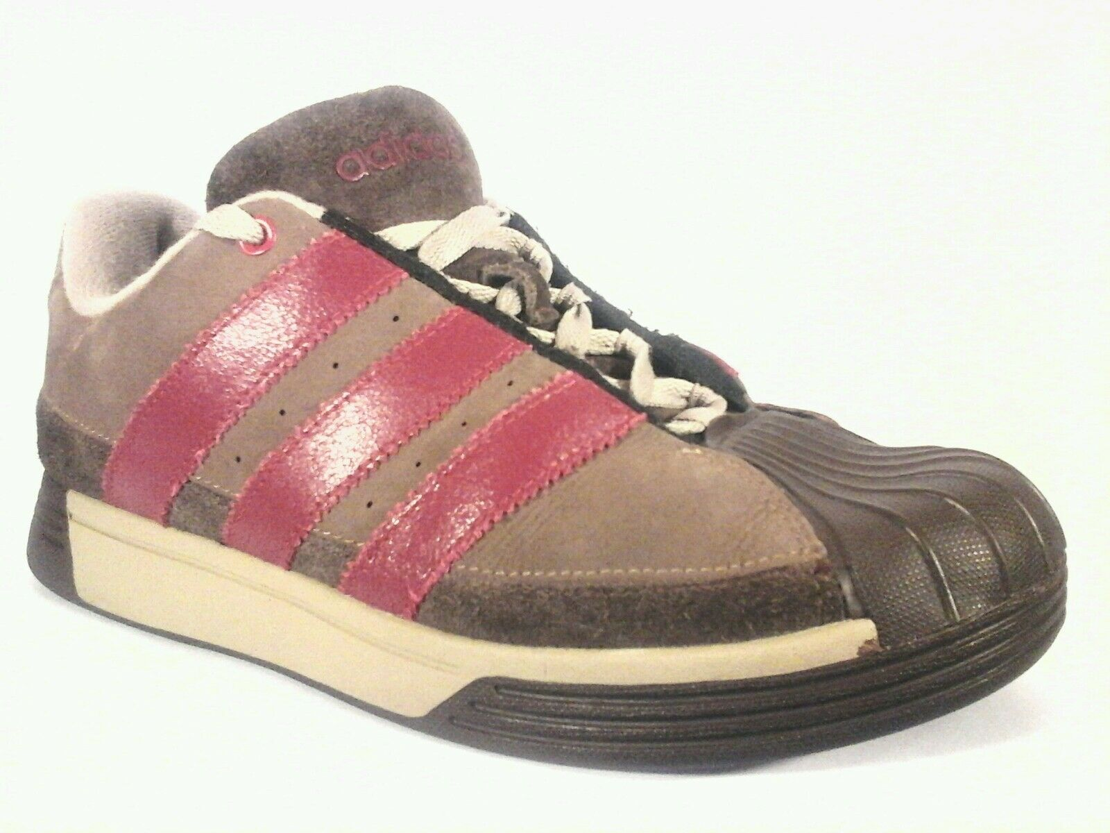 ADIDAS Sneakers ORIGINALS Clamshell Suede Brown Red Shoes Men's US 8 RARE