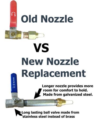 Tip Sandblaster Nozzle with Holder Long-Lasting Steel Valve