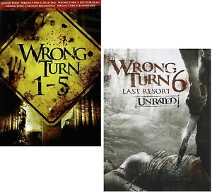 Details about WRONG TURN 1-6 (2003-2014): COMPLETE 6 Movie Collection - NEW  Rg1 DVD Sets