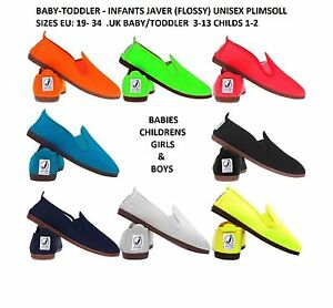 Nouveau-bebe-enfant-KIDS-JAVER-Flossy-Unisexe-Lacets-Plat-Chaussure-Espadrills