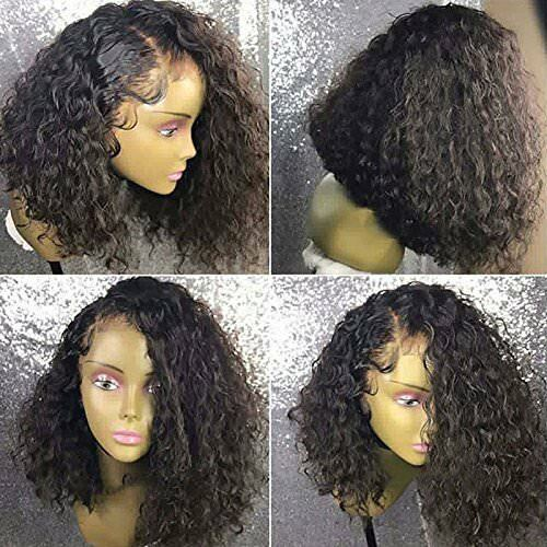 Pre Plucked Curly Wave Lace Front Wigs Synthetic