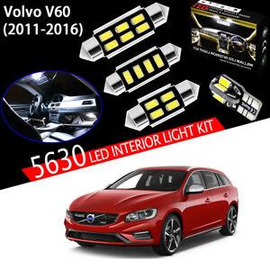 17 Bulbs Xenon White 5630 LED Interior Light Kit Package For Volvo V60 2011-2016