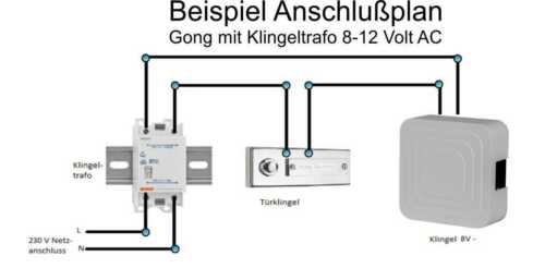 Klingel Türklingel Gong Türglocke Glocke Zweiklang mechanisch 8-12V Bittorf