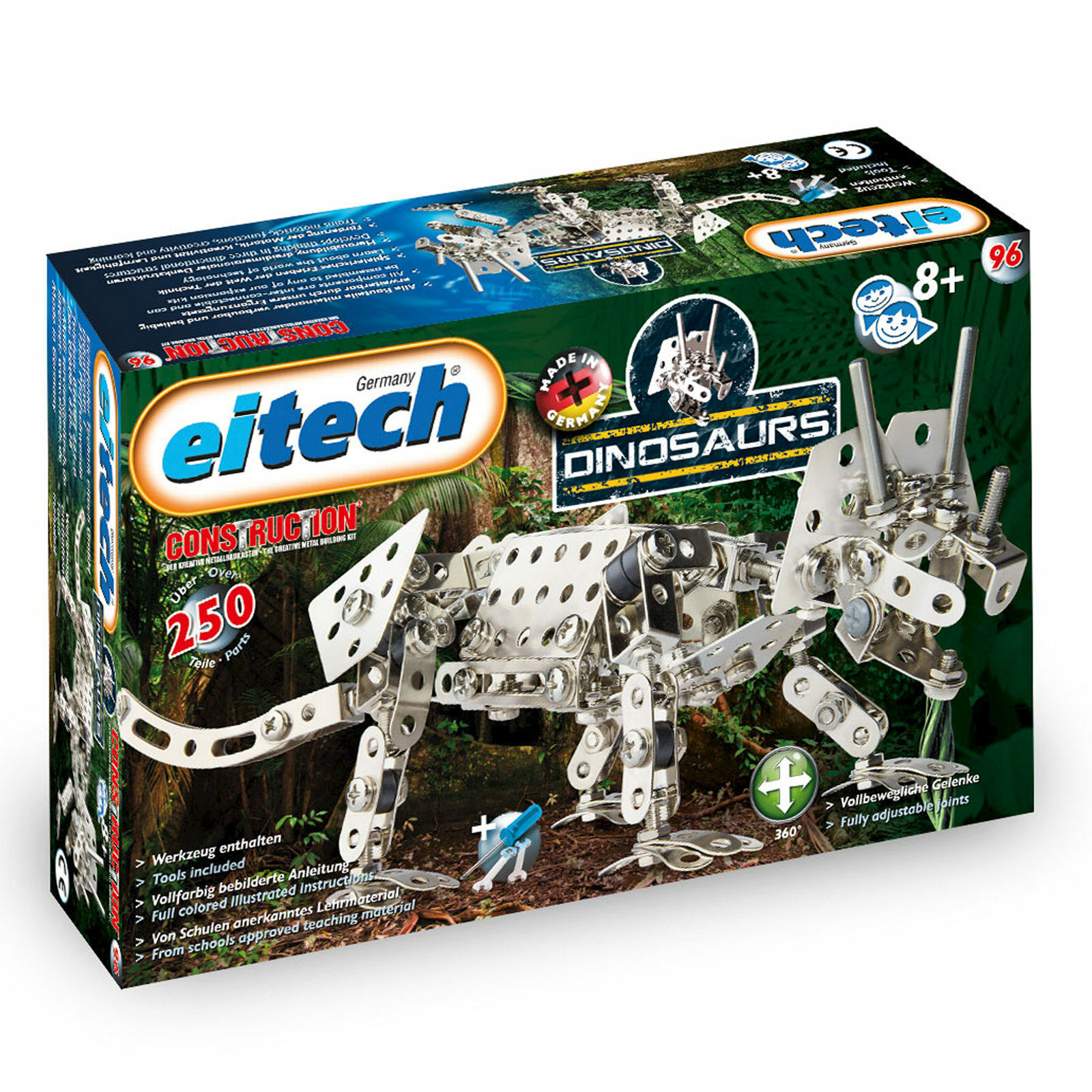 Eitech Metal Construction Sets Triceratops Dinosaurs