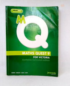 Maths-Quest-9-for-Victoria-Australian-Curriculum-Edition-used-paperback-2015