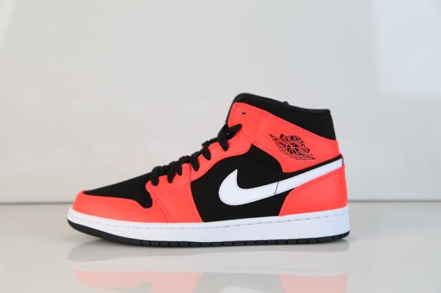 size 40 3f177 ca253 Nike Air Jordan Retro 1 Mid Black Infrared 23 White 554724-061 8-11 5 aj1 aj
