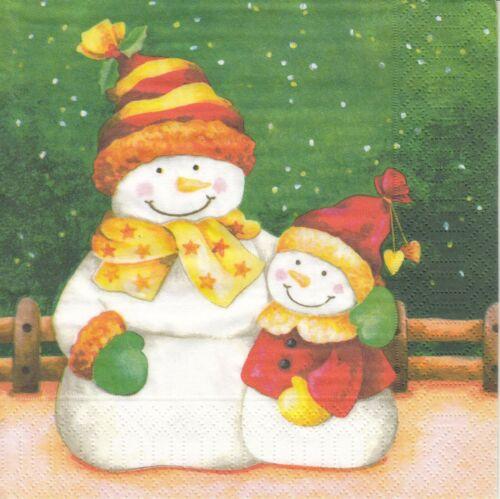 hombres de nieve y nieve niño 4 lunch papel servilletas napkins ll14
