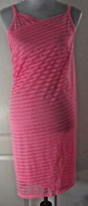 STEVE-MADDEN-WRAP-DRESS-COVER-UP-Pink-Size-M-L-Sheer