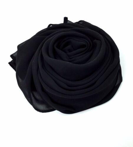 Women Lady Classic Plain Chiffon Scarf Soft Sheer Neck Scarf Shawl Scarves*Chifn