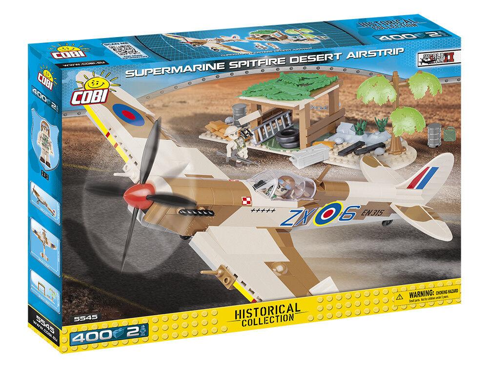 Cobi 5545 - Small Army - WWII Supermarine Spitfire Mk.Ix - Desert Airstrip - Neu