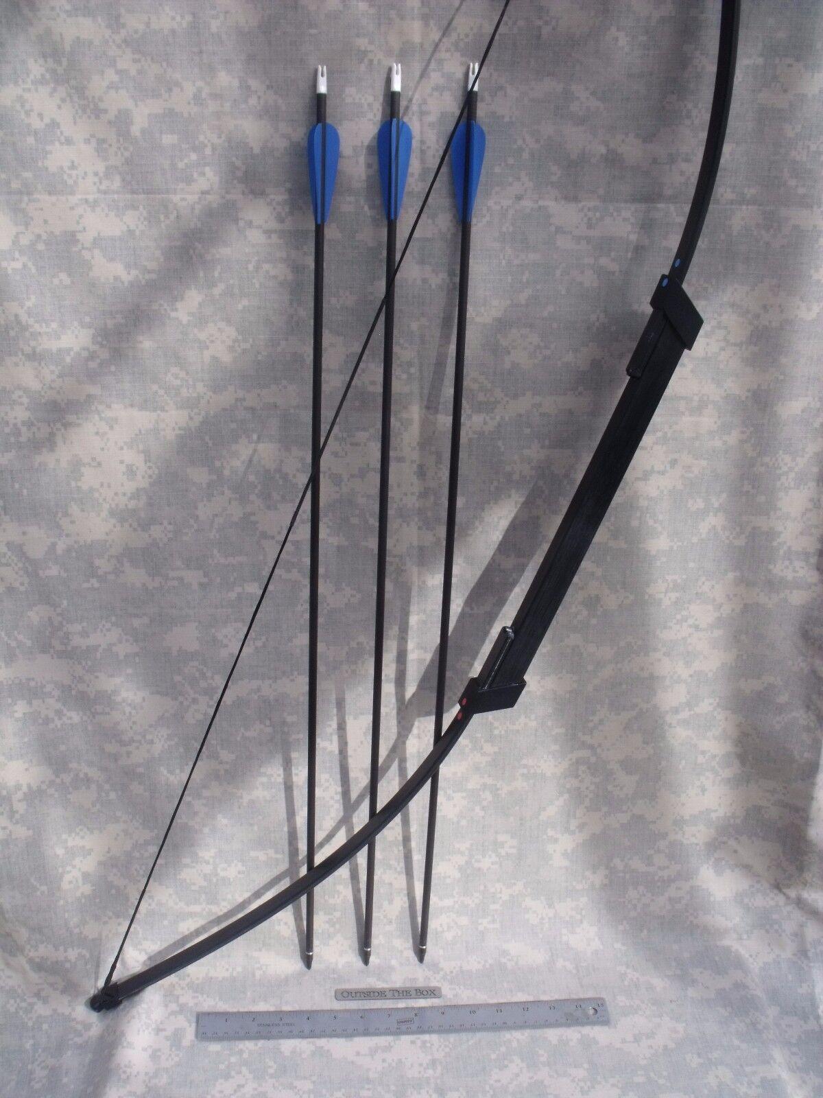 Compacto supervivencia Emergencia Take Down Arco - 45Arco, (3) 30  flechas, Case