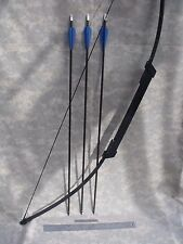 "Compact SURVIVAL/EMERGENCY Take Down BOW - 45# Longbow, (3) 30"" Arrows, Case"