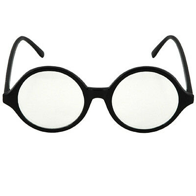 Retro Round Frame Professor Glasses nerd scientist einstein costume hipster 60s