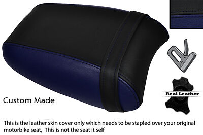 BLACK & NAVY BLUE CUSTOM FITS TRIUMPH THUNDERBIRD 1700 1600 REAR SEAT COVER