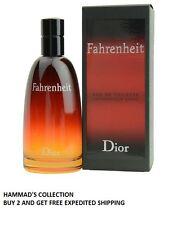 Fahrenheit by Christian Dior for Men EDT Spray 3.4 oz - 100 ml (NIB) SEALED