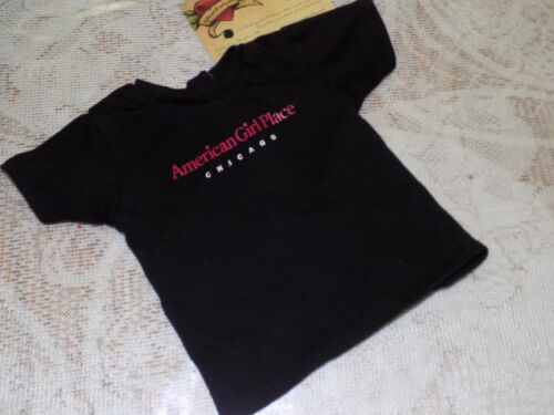 American Girl BLACK TEE SHIRT CHICAGO TAGGED PLEASANT CO EC Berry Red Logo