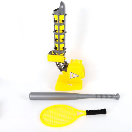 Tennis Ball Training Machine Baseball Launcher w//Baseball Bat+Tennis Racquet USA