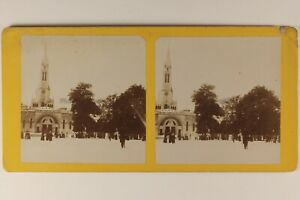 Pesanti Eglise Francia Foto Stereo Vintage Albumina C 1890