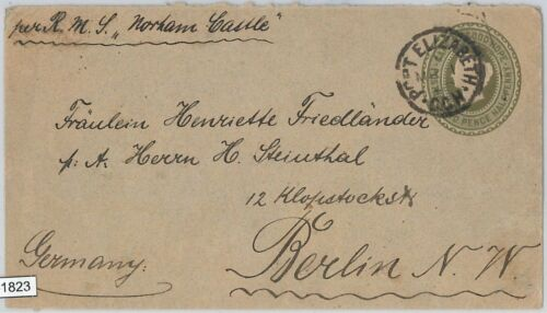51823 CAPE of GOOD HOPE POSTAL HISTORY STATIONERY COVER H & G #3 1897