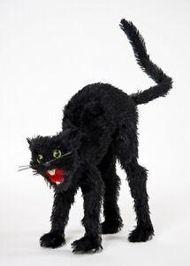 Bucklige-schwarze-Katze-Buckeliger-Hexen-Kater-ca-34cm-gross-Halloween-Deko