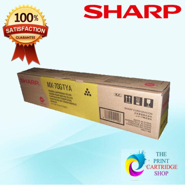 Original Sharp MX-70GTYA Yellow Toner Cartridge MX5500N 6200N 6201N 7000N