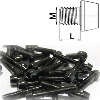 Alluminio Bullone M6 x 10-50 Conico Din 912 Al7075 Nero