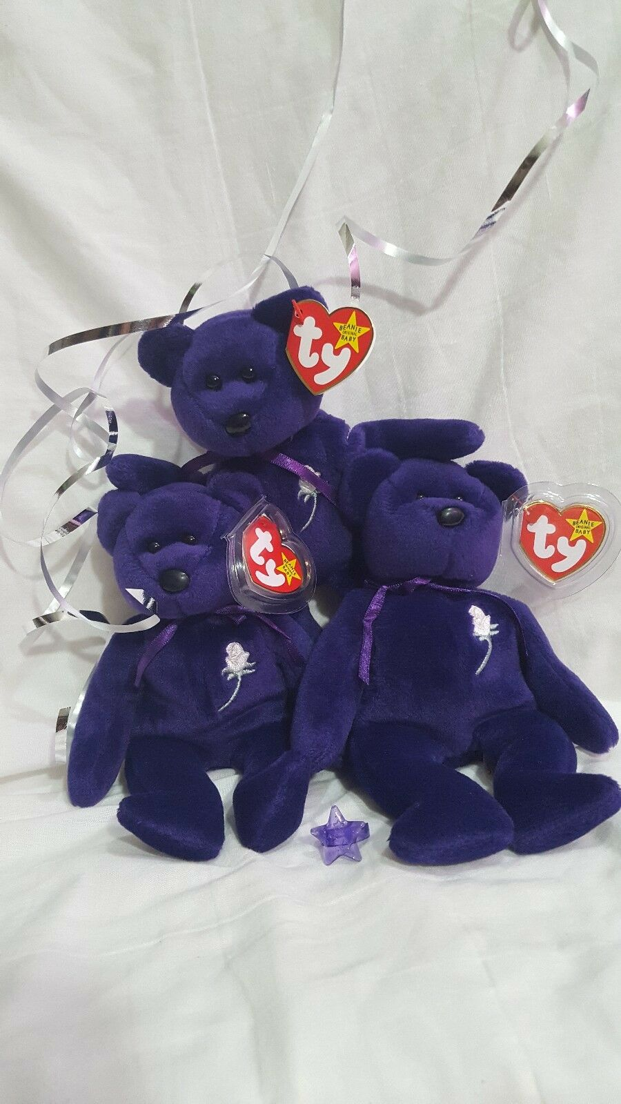 Ty Beanie Babies Princess Diana Happy Birthday to our Favorite Princess