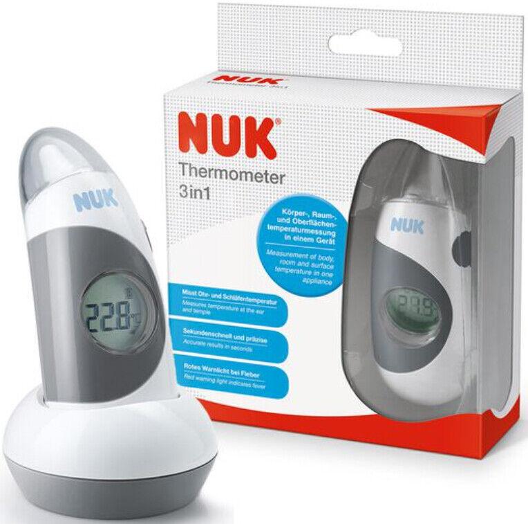 Nuk 2in1 Infrared Stirnthermomter Ohrthermomter Thermometer For Sale Online Ebay Nuk termómetro de baño se trata de un termómetro elaborado con una escala de precisión para conseguir unos resultados de medición correctos y seguros. ebay