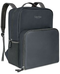 aa0ccea3d0 Image is loading Calvin-Klein-fragrances-Insulated-gray-Backpack-School-Bag
