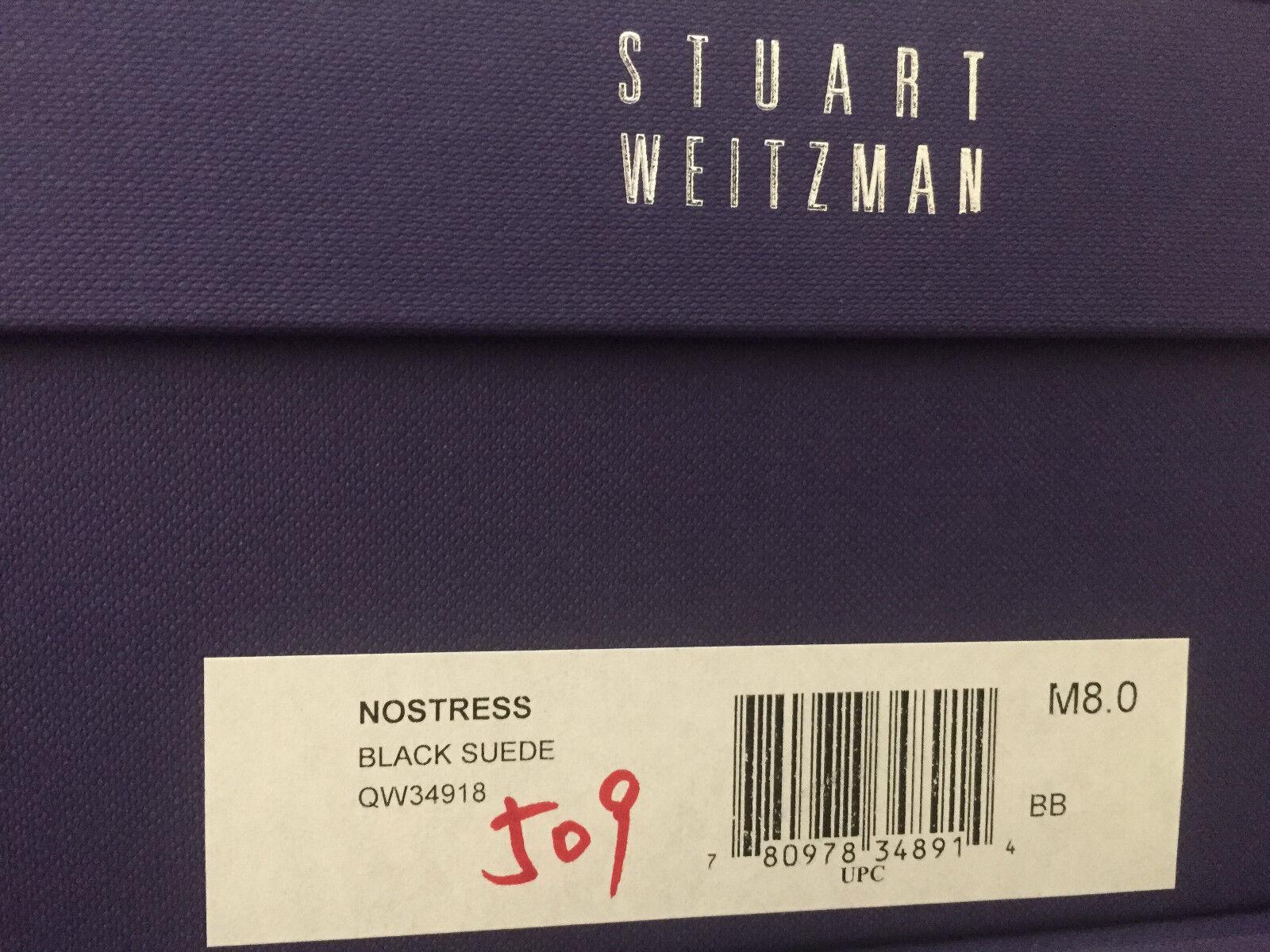 NIB Stuart Weitzman Nostress Nero Suede Stretch Stretch Stretch Ankle Boot 7 7.5 8 b0e0ac