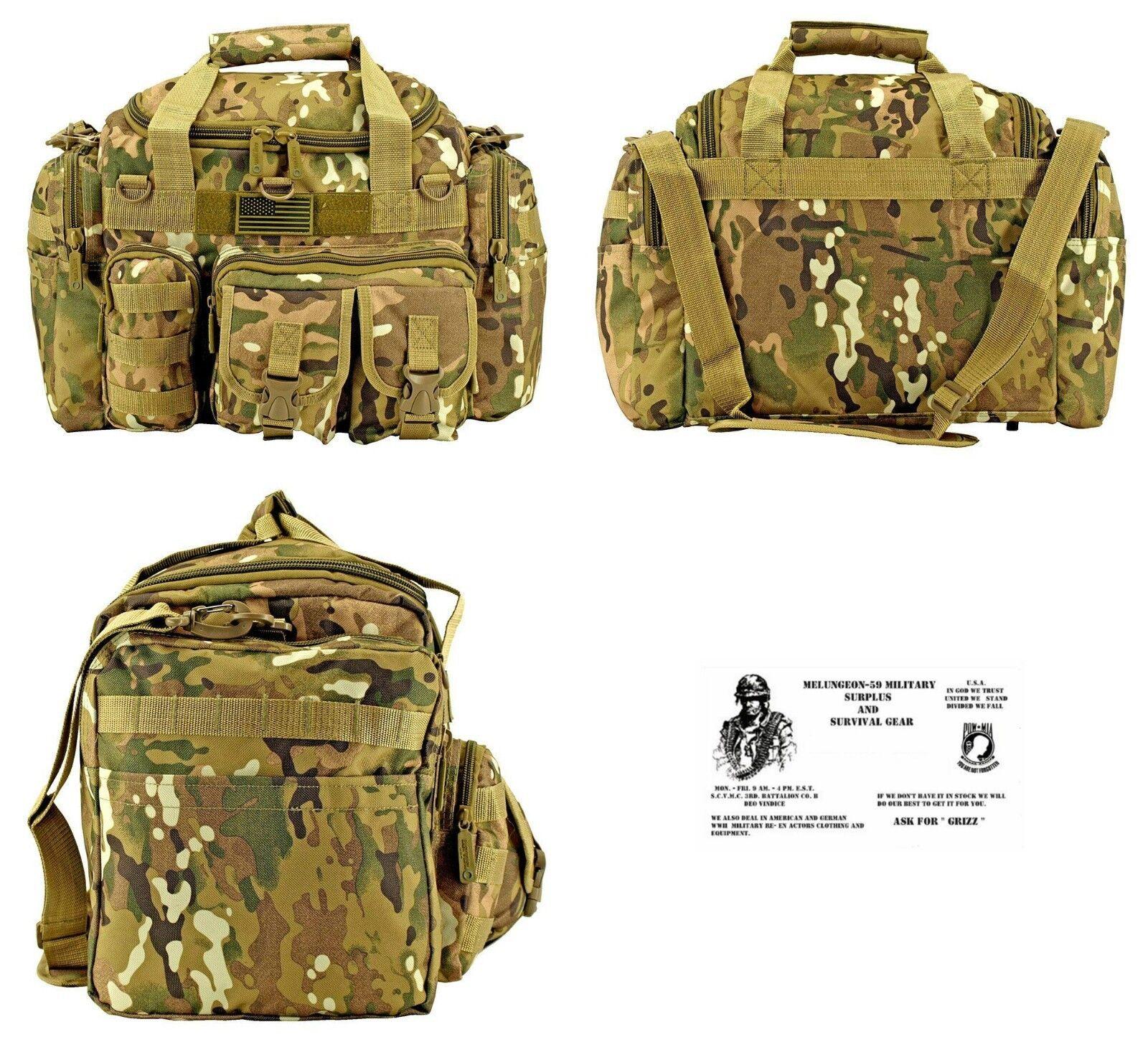A-10 Duffel Bag + Free Surv.Bracelet -Tactical   Military   Survival - Multi Cam