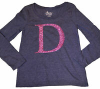 Girl's Old Navy Bright Night Blue Glitter d Long Sleeve Top Size Xs (5)