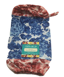 The Pioneer Woman Heritage Floral Reusable Plastic Bag Saver with Hanging Loop