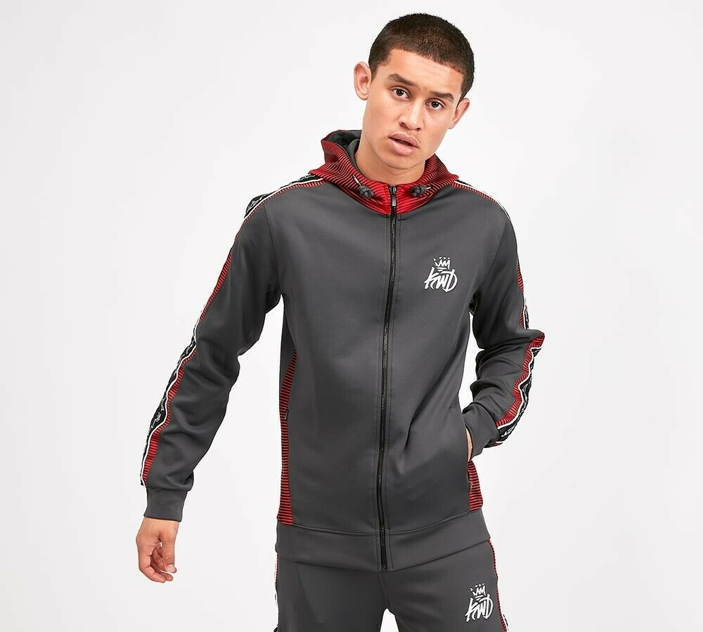 Kings Will Dream KWD Mens New Tracksuit Hoody Joggers Manse Charcoal rot