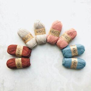 100-Superfine-Peruvian-Alpaca-4ply-yarn-COSY-knitting-crochet-gift-set-8x50g