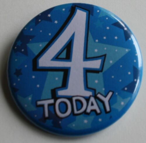 Party Gift Present D1 4th Birthday Badge 50mm Pin Button Badge 4th