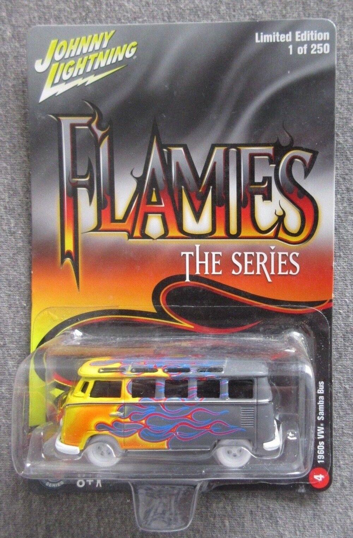 VHTF MOC JOHNNY WHITE LIGHTNING WL FLAMES SERIES 60's VW SAMBA BUS  250 1 64