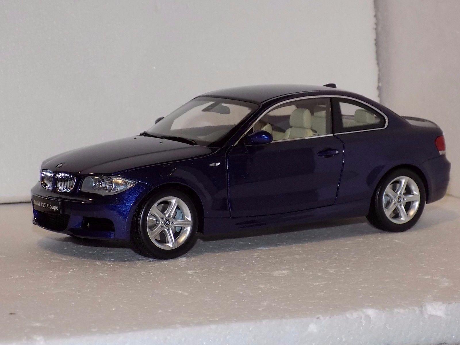 BMW 135i Coupe bleu KYOSHO 08722BL 1 18