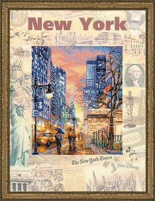 Counted Cross Stitch Kit RIOLIS - CITIES OF THE WORLD. NEW YORK
