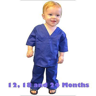 Kids Scrubs Set REAL Hot Pink Childrens Doctor and Nurse Scrub Sets